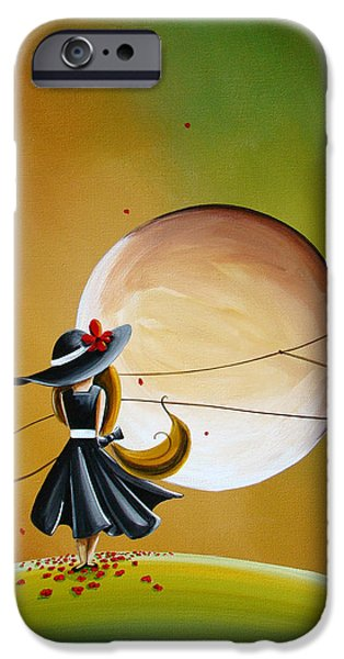Figures Paintings iPhone Cases - Moonrise iPhone Case by Cindy Thornton