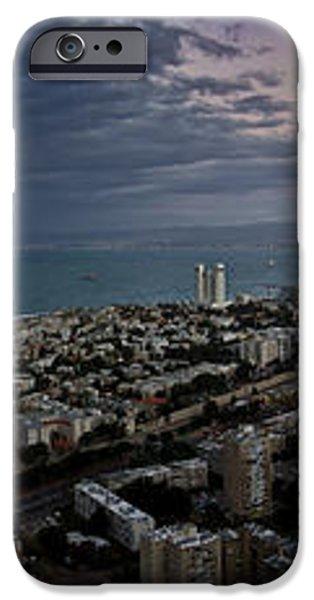 Moonrise Over Haifa Bay iPhone Case by Nadya Ost