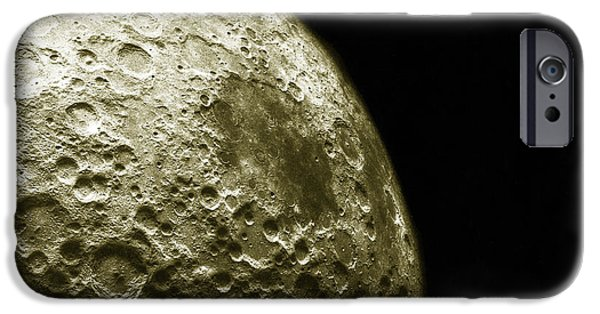 Color Enhanced iPhone Cases - Moons Southern Hemisphere iPhone Case by Science Source