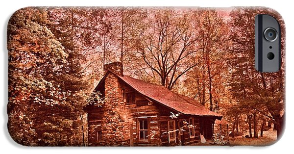 Log Cabin Photographs iPhone Cases - Moonshine iPhone Case by Debra and Dave Vanderlaan