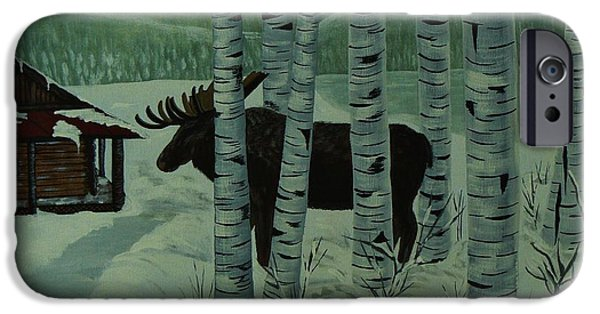 By Barbara St Jean iPhone Cases - Moose Lake iPhone Case by Barbara St Jean