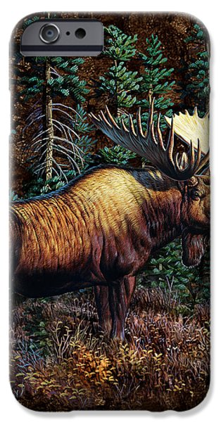 Cynthie Fisher iPhone Cases - Moose Vignette iPhone Case by JQ Licensing
