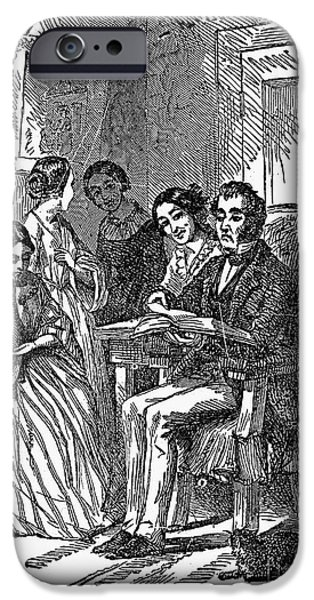 1870 iPhone Cases - MORMON WITH WIVES, 1870. /nWood engraving, American, 1870 iPhone Case by Granger