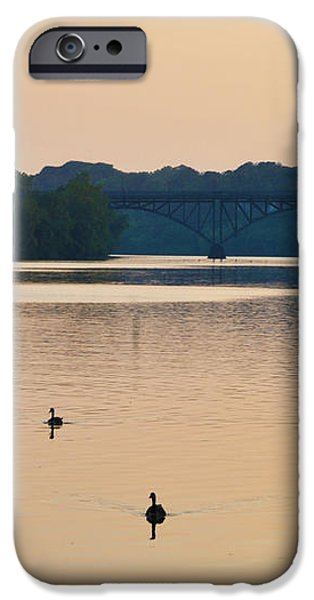 Morning Along the Schuylkill River iPhone Case by Bill Cannon