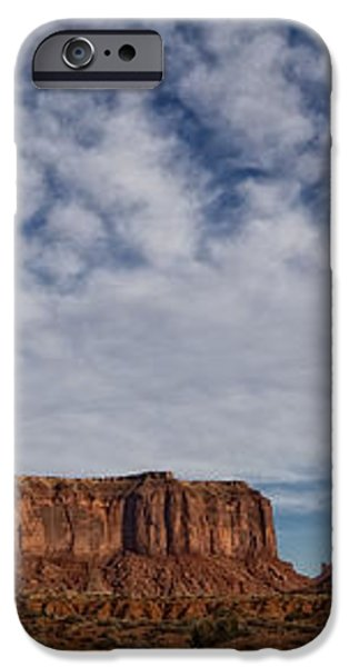 Morning Clouds Over Monument Valley iPhone Case by Robert Postma