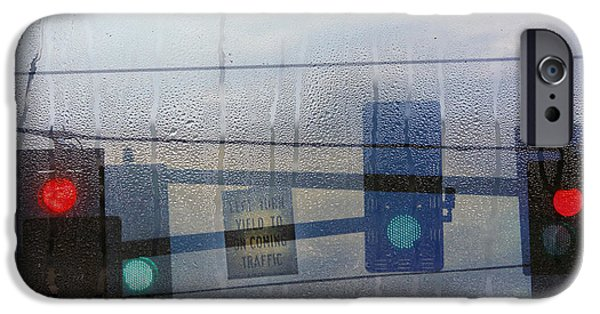 Rain iPhone Cases - Morning Commute iPhone Case by Rebecca Cozart