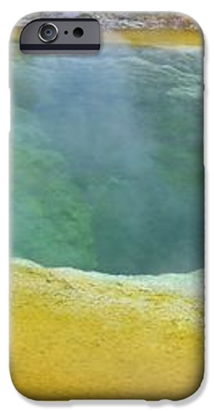 Morning Glory Pool, Yellowstone iPhone Case by Tony Craddock