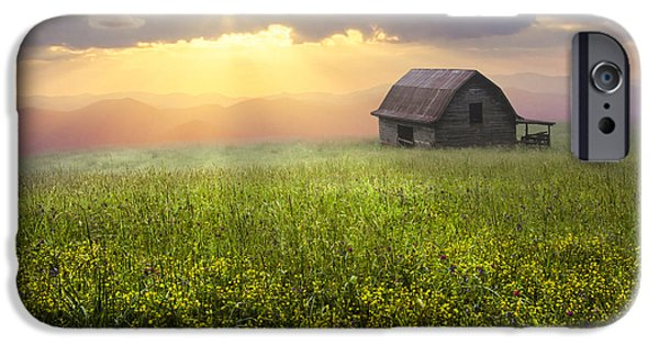 Smokey Mountains iPhone Cases - Morning Has Broken iPhone Case by Debra and Dave Vanderlaan