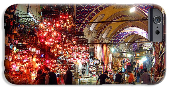 Istanbul iPhone Cases - Morning in the Grand Bazaar iPhone Case by Mike Reid