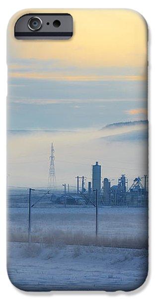 Morning landscape in winter iPhone Case by Gabriela Insuratelu