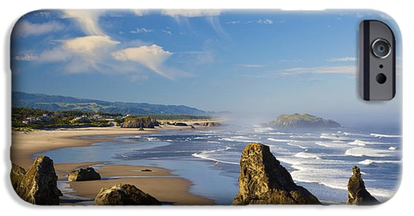 State Parks In Oregon iPhone Cases - Morning Light Adds Beauty To Rock iPhone Case by Craig Tuttle