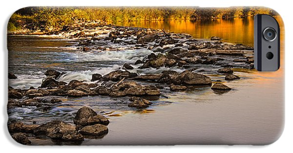 Silk Water iPhone Cases - Morning Reflections iPhone Case by Robert Bales