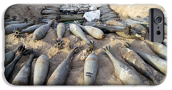 Iraq iPhone Cases - Mortar Rounds, Ammunition, And Other iPhone Case by Stocktrek Images