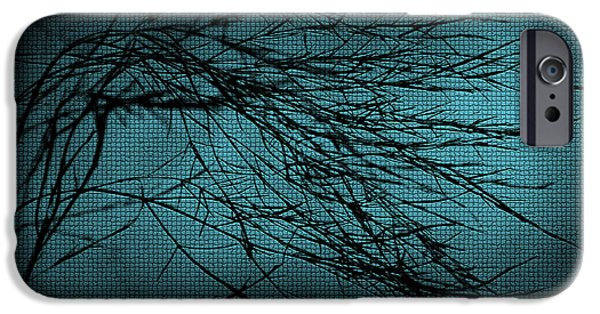 Abstract Digital Mixed Media iPhone Cases - Mosaic Branch iPhone Case by Svetlana Sewell