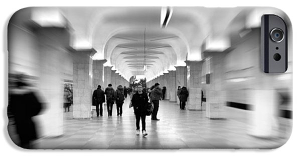 Interior Scene iPhone Cases - Moscow Underground iPhone Case by Stylianos Kleanthous