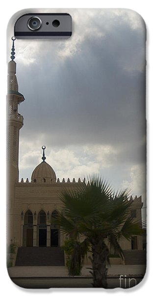 Alexandria iPhone Cases - Mosque outside Alexandria iPhone Case by Darcy Michaelchuk