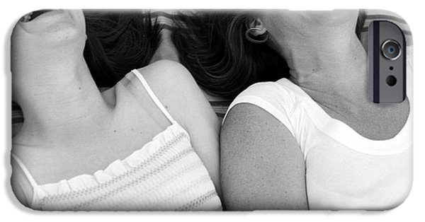 Women Together iPhone Cases - Mother And Daughter Laughing iPhone Case by Michelle Quance
