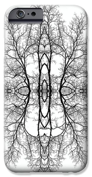 Modern Abstract iPhone Cases - Mother Earth iPhone Case by Debra and Dave Vanderlaan