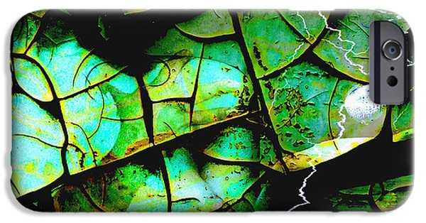 Night Angel Mixed Media iPhone Cases - Mother Earth iPhone Case by Yvon van der Wijk