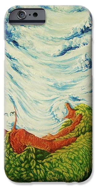 Etc. Paintings iPhone Cases - Mother Nature iPhone Case by Pralhad Gurung