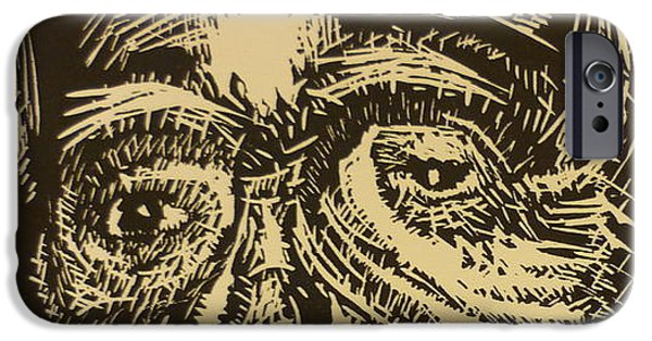 Black And White Reliefs iPhone Cases - Mother Teresa iPhone Case by Casey P