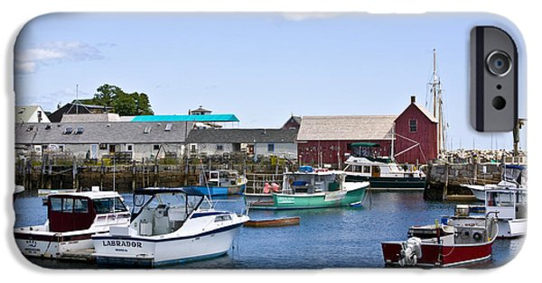 Rockport Ma iPhone Cases - Motif 1 iHarbor iPhone Case by Warren Carrington