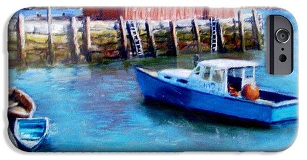 Jack Skinner iPhone Cases - Motif One Rockport Harbor iPhone Case by Jack Skinner