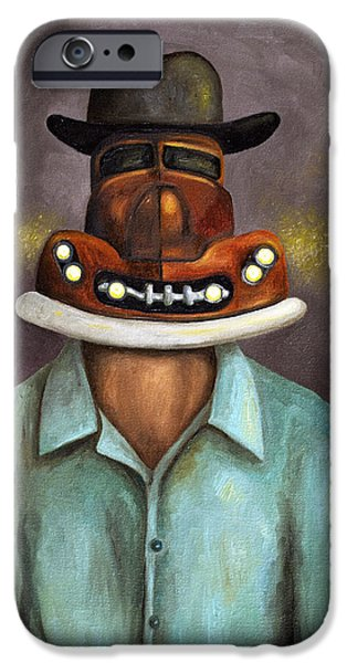 Mechanics Paintings iPhone Cases - Motor Head iPhone Case by Leah Saulnier The Painting Maniac