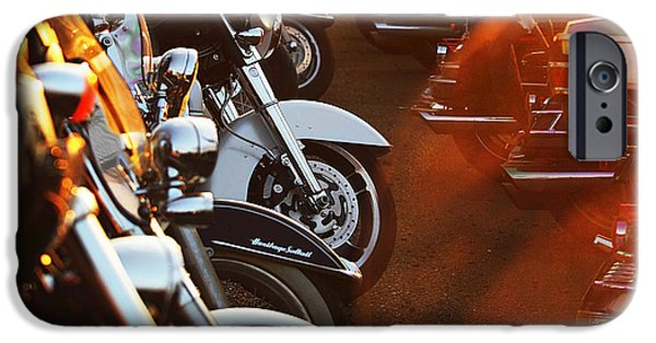 Stainless Steel iPhone Cases - Motorbikes  iPhone Case by Anna Omelchenko