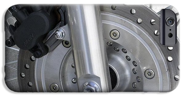 Disc iPhone Cases - Motorcycle Disc Brake iPhone Case by Tony Craddock