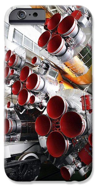 Rockets iPhone Cases - Motors Of A Soyuz Rocket iPhone Case by Ria Novosti