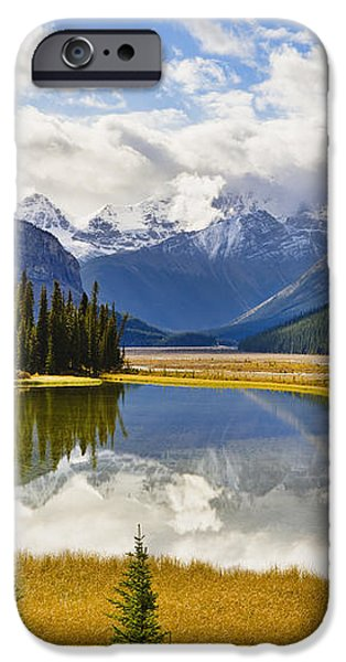 Mount Kitchener Reflected In Pond iPhone Case by Yves Marcoux