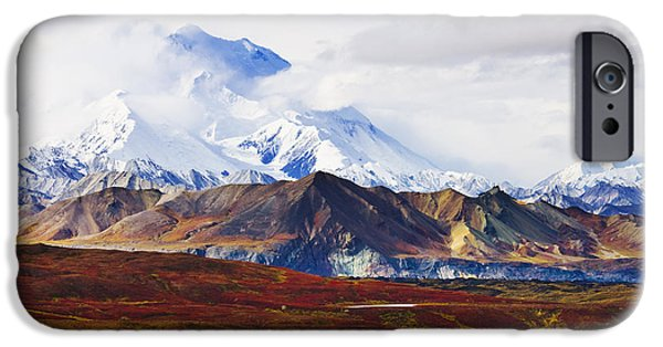 Mountain iPhone Cases - Mount Mckinley From Eielson Visitor iPhone Case by Yves Marcoux