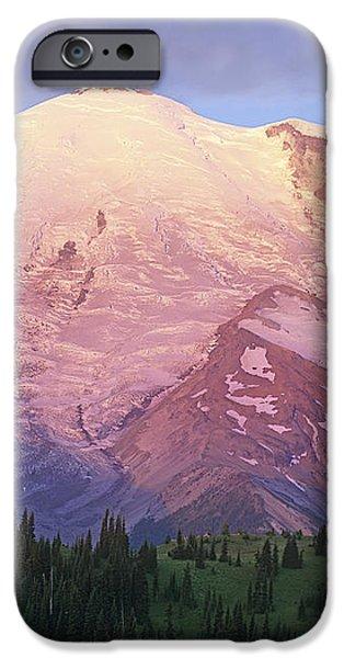Mount Rainier At Sunrise Mount Rainier iPhone Case by Tim Fitzharris