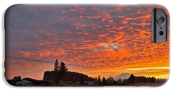 Mount Rainier Dawn iPhone Case by Sean Griffin