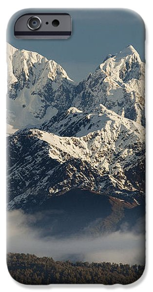 Mount Tasman And Mount Cook Southern iPhone Case by Colin Monteath