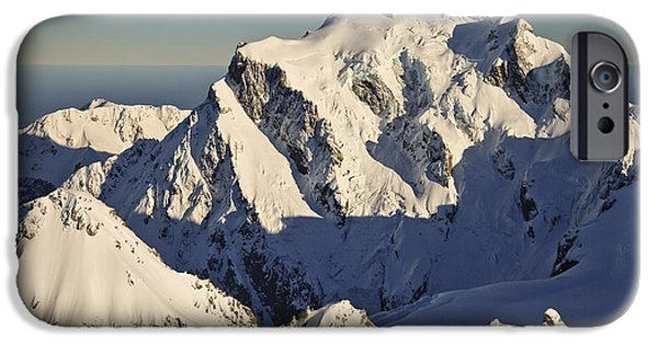 Mountains iPhone Cases - Mount Tutoko At Dawn Hollyford Valley iPhone Case by Colin Monteath