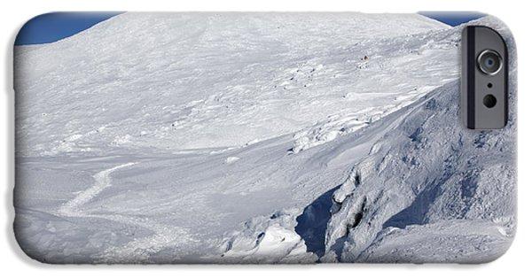 White Mountains iPhone Cases - Mount Washington - White Mountain New Hampshire USA Winter iPhone Case by Erin Paul Donovan