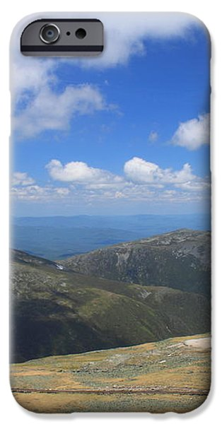 Mount Washington Cog Railroad and Northern Presidentials iPhone Case by John Burk