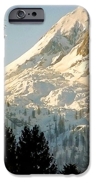 Mountain Christmas 2 Austria Europe iPhone Case by Sabine Jacobs