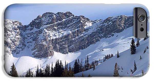 Skiing iPhone Cases - Mountain High - Salt Lake UT iPhone Case by Christine Till