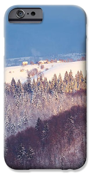 Mountain landscape in Brasov county iPhone Case by Gabriela Insuratelu