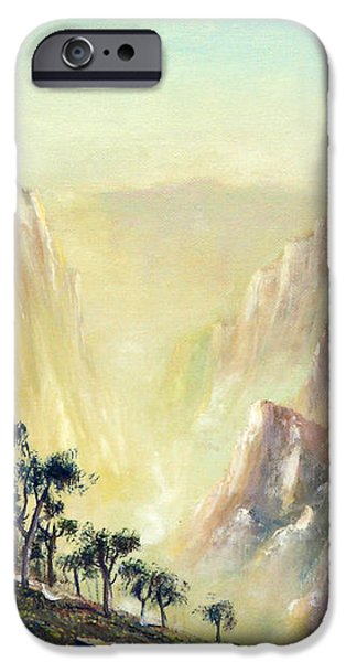 Mountain of The Horses 1989 iPhone Case by Wingsdomain Art and Photography