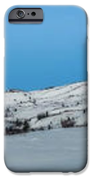 Mountain range along the Dempster Highway iPhone Case by Priska Wettstein