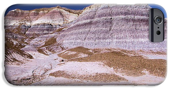 Petrified Forest Arizona iPhone Cases - Mountain Stripes iPhone Case by Adam Jewell