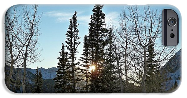 Rural Landscapes iPhone Cases - Mountain Sunset iPhone Case by Michael Cuozzo