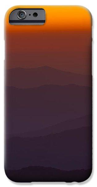 Mountain Sunset iPhone Case by Steve Gadomski