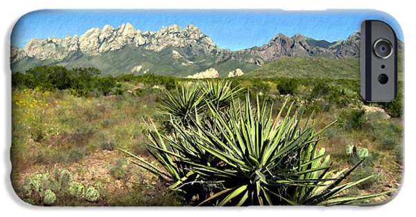 Las Cruces Digital Art iPhone Cases - Mountain View Las Cruces iPhone Case by Kurt Van Wagner