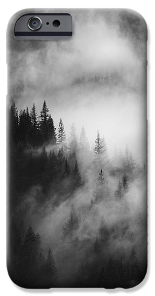 Forest iPhone Cases - Mountain Whispers iPhone Case by Mike  Dawson
