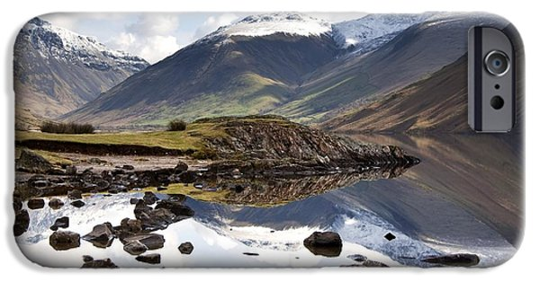 Design Pics - iPhone Cases - Mountains And Lake At Lake District iPhone Case by John Short